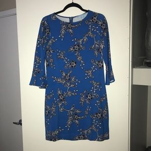 Draper James geranium floral stretch dress